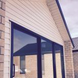 Frost white soffit, bone white bevelback cladding